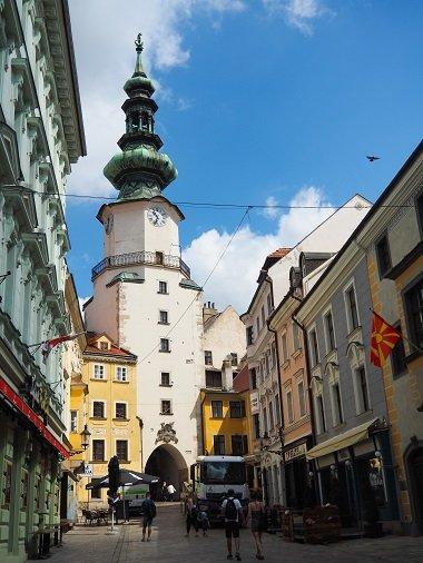 Bratislava, reisen, Städtetrip, alleine reisen, alleine reisen als Frau, Michaelertor